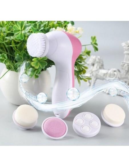 Massagador de Limpeza Facial + Esfoliador 5 em 1 TRATAMENTOS DE ROSTO